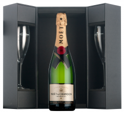 Moet & Chandon Imperial luxe coffret + 2 flutes