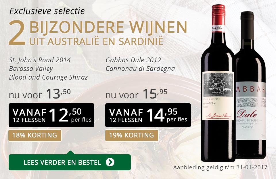 Exclusieve wijnen januari 2017 - goud/zwart