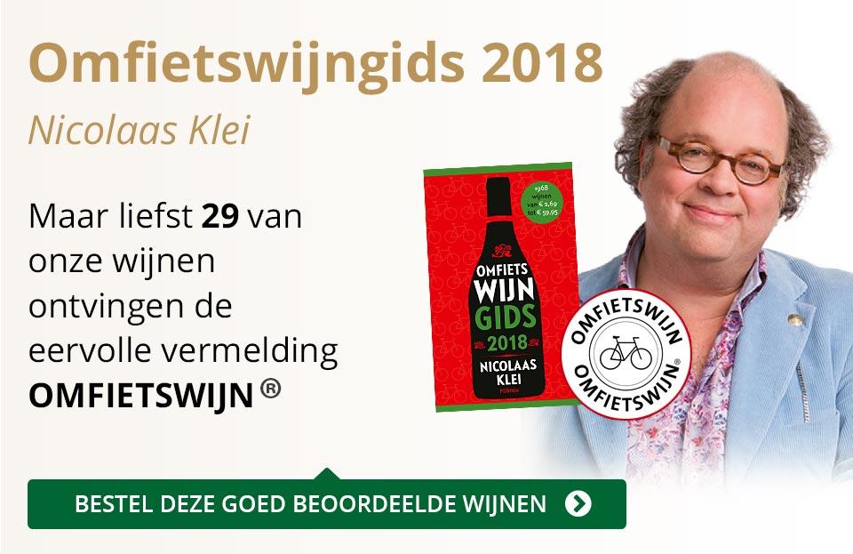 Omfietswijngids 2018 - goud/zwart