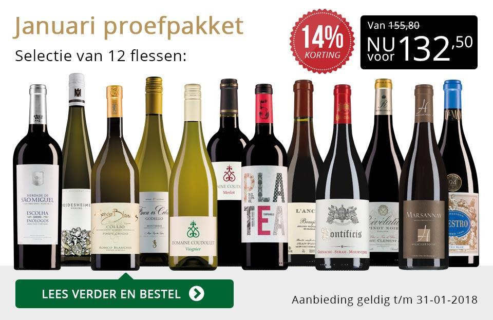 Proefpakket wijnbericht januari 2018 (132,50) - goud/zwart