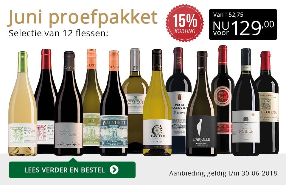 Proefpakket wijnbericht juni 2018 (129,00) - goud/zwart