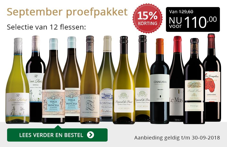 Proefpakket wijnbericht september 2018 (110,00) - goud/zwart