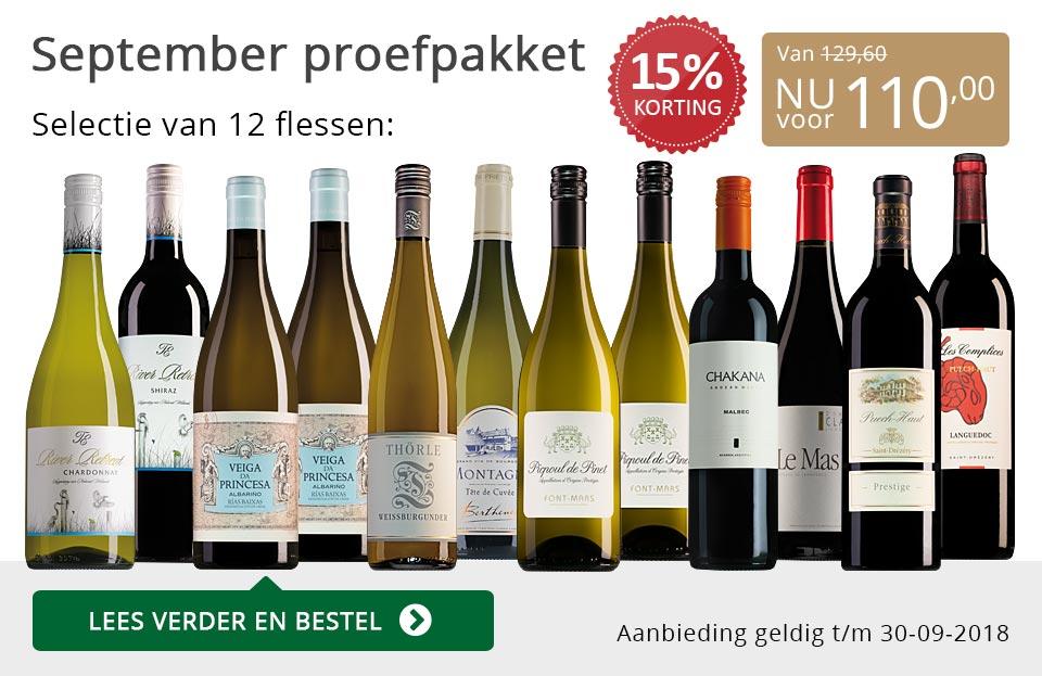 Proefpakket wijnbericht september 2018 (110,00) - grijs/goud
