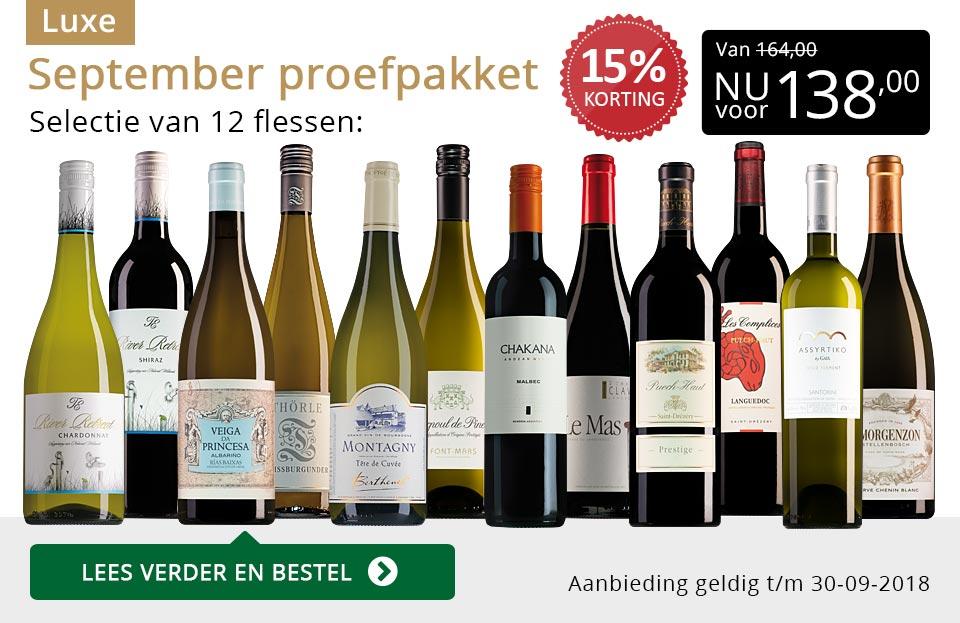 Proefpakket luxe wijnbericht september 2018 (138,00) - goud/zwart
