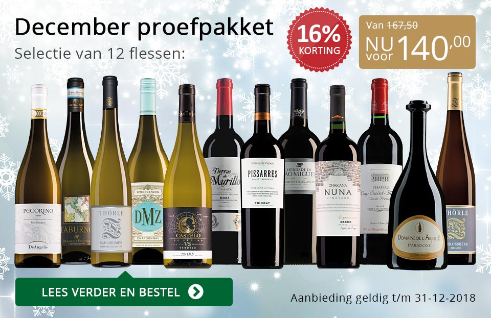 Proefpakket wijnbericht december 2018 (140,00) - goud/zwart