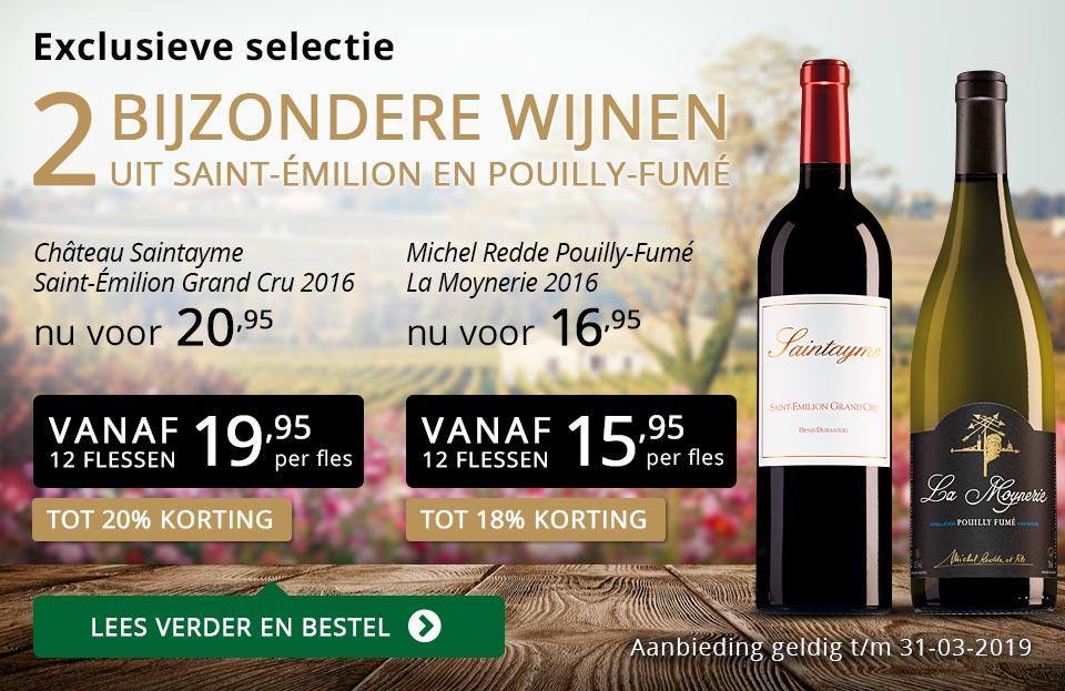 Twee bijzondere wijnen maart 2019 - goud/zwart